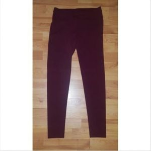Lauren Conrad Red Space Dyed Pull On Leggings